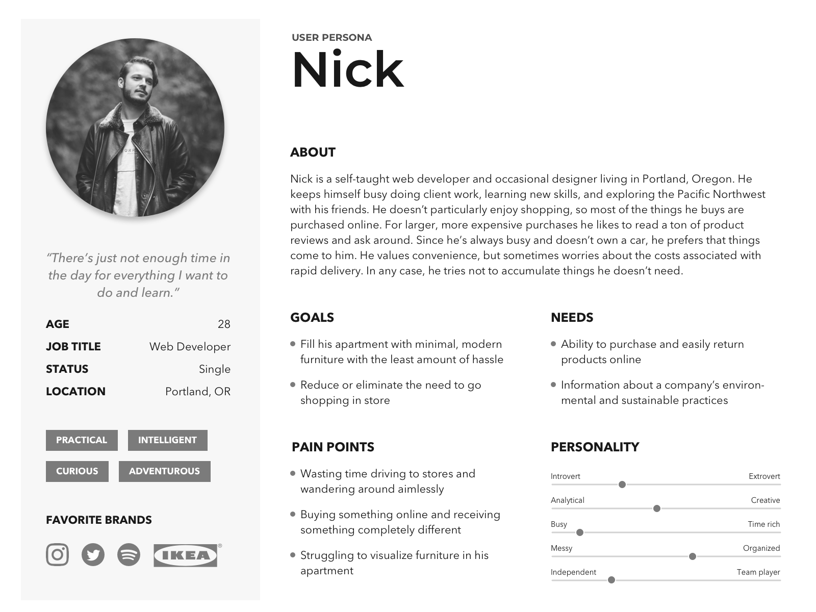 User Persona Nick CORAY V1