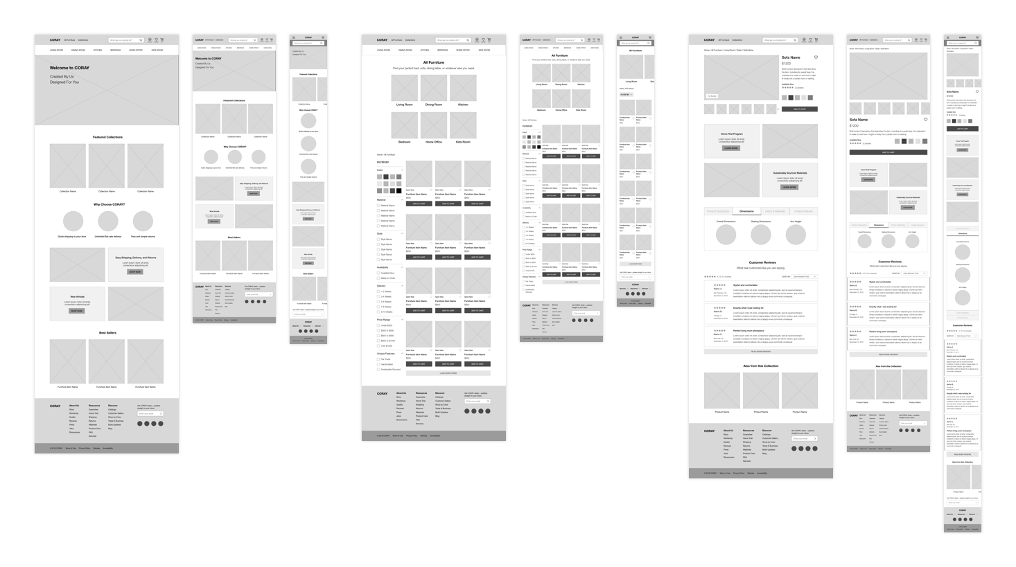 Coray Initial Wireframes Case Study V1