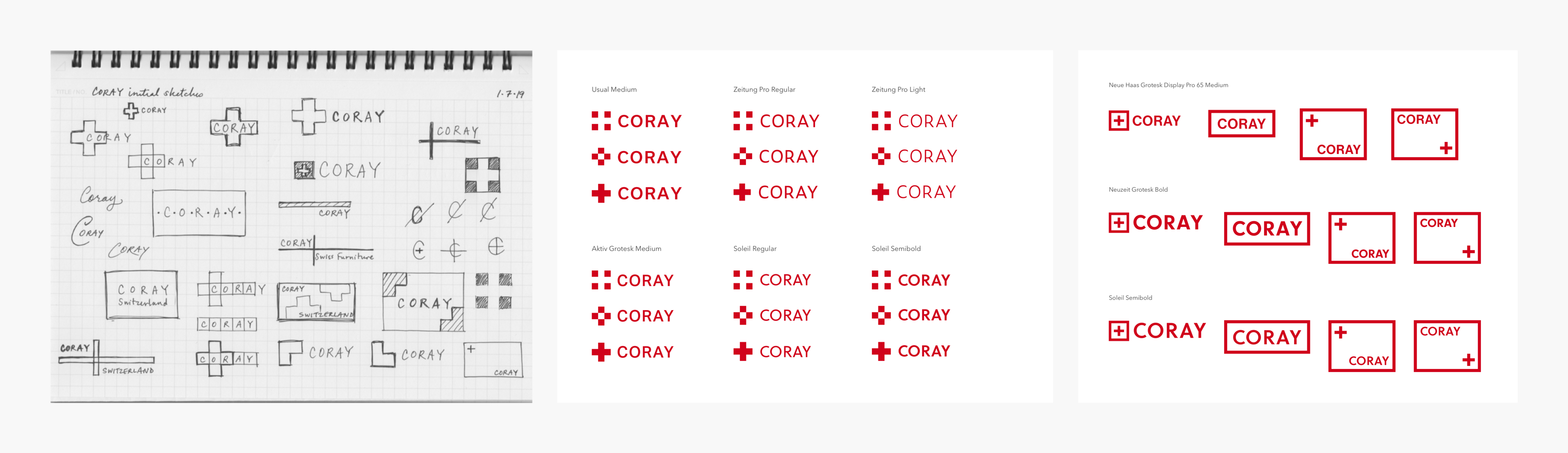 Coray Logo Sketch and Explorations Case Study V1