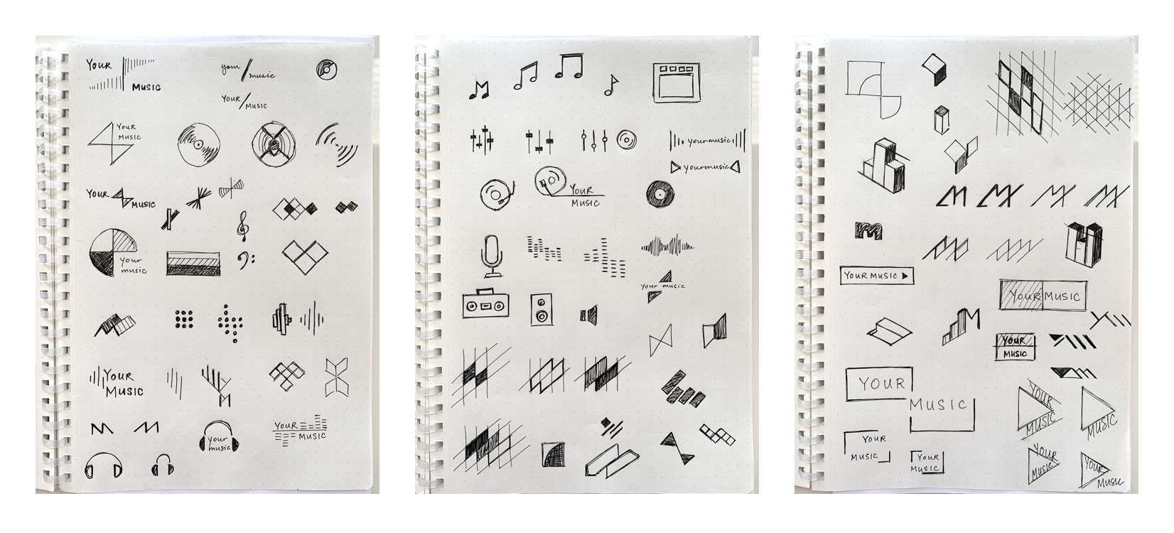 Your Music Logo Sketches Case Study V1