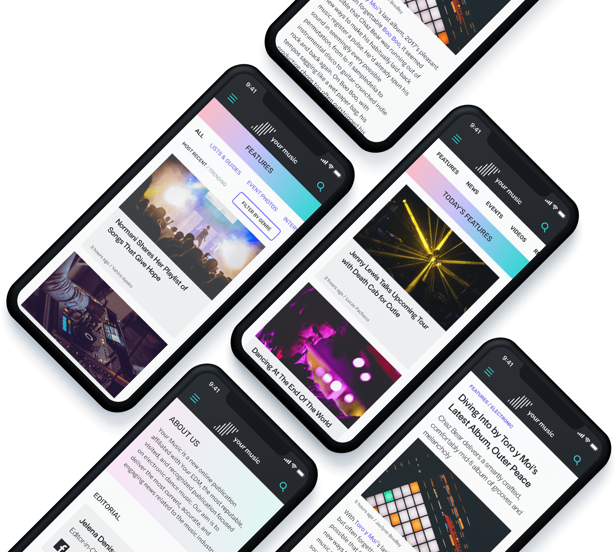 Your-Music-five-iPhoneXs-mockup-for-slides