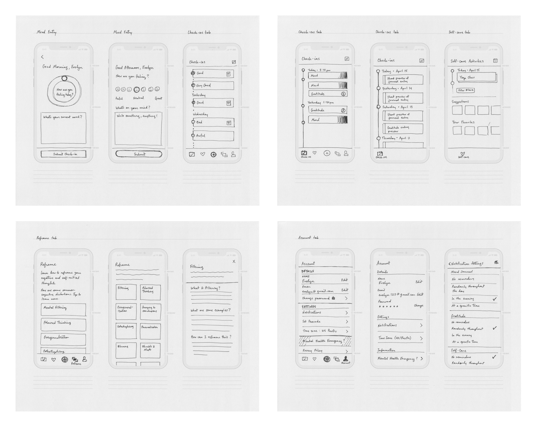Kai Wireframe Sketches for Case Study v4